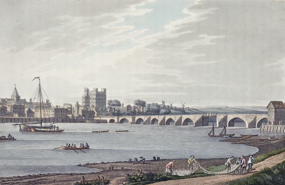 An History of the Principal Rivers of Great Britain Vol. 2 - Rochester Bridge and Castle (1794)