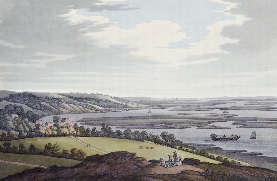 An History of the Principal Rivers of Great Britain Vol. 2 - View from Upnor towards Sheerness (1794)