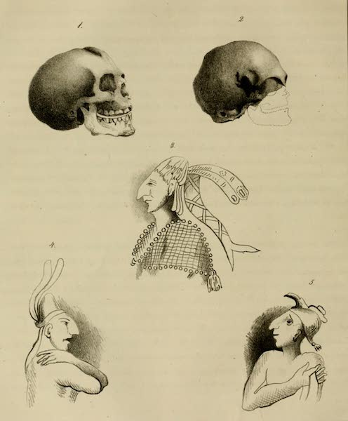 An Inquiry into the Origin of the Antiquities of America - Plate II (1839)