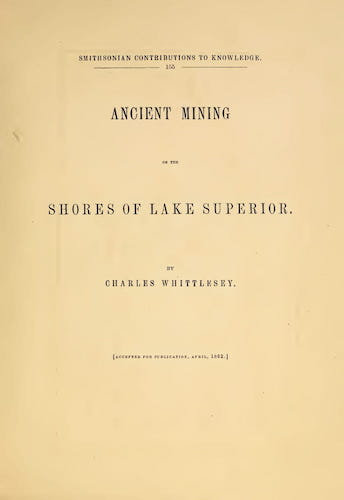 English - Ancient Mining on the Shores of Lake Superior