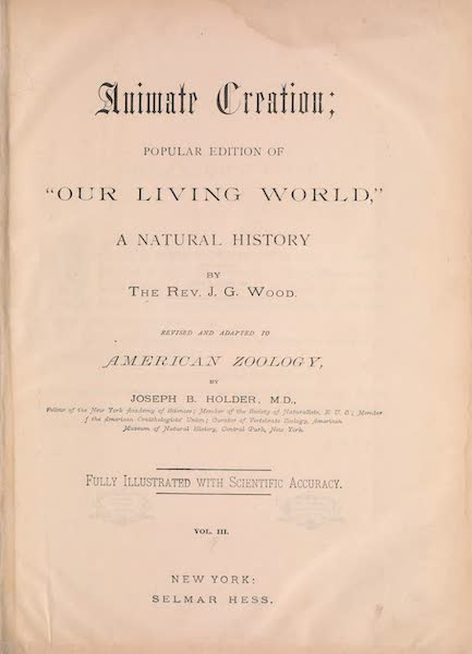 Animate Creation Vol. 3 - Title Page (1885)
