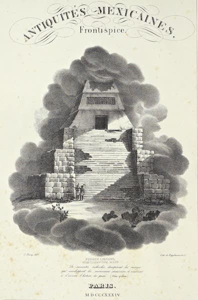 Antiquites Mexicaines - Illustrated Title Page (Frontispiece) (1844)