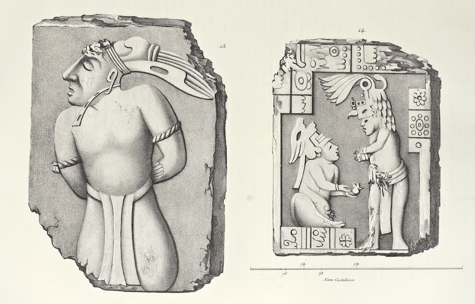 Antiquites Mexicaines - 3ème Expedition - Planche VIII (1844)