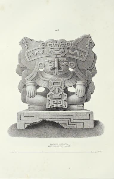 Antiquites Mexicaines - 2ème Expedition - Planche LIV (1844)