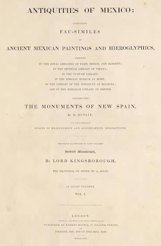 Antiquities of Mexico Vol. 1 (1831)