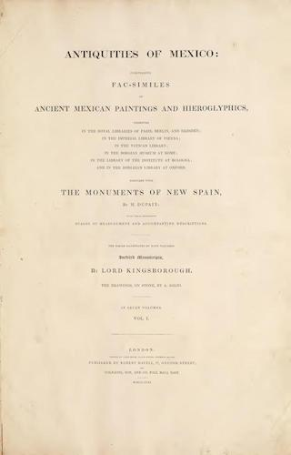 Antiquities of Mexico Vol. 1 - Title Page (1831)