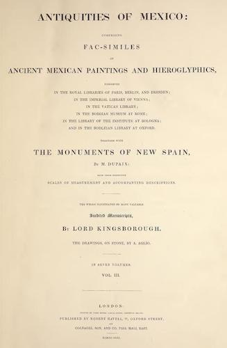 Manuscripts - Antiquities of Mexico Vol. 3