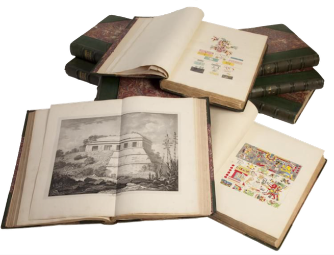 Antiquities of Mexico Vol. 5 - Book Display IV (1831)