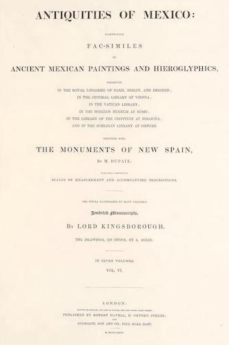 Manuscripts - Antiquities of Mexico Vol. 6