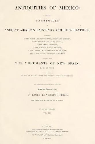 Antiquities of Mexico Vol. 7 (1831)