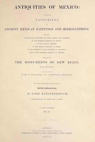 Manuscripts - Antiquities of Mexico Vol. 9