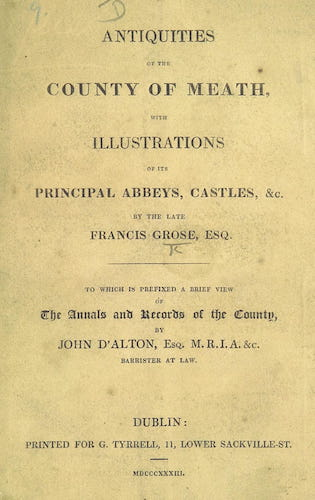 Aquatint & Lithography - Antiquities of the County of Meath