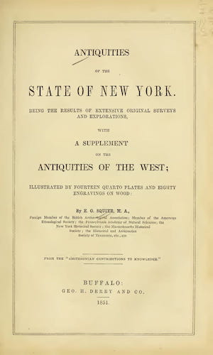 Antiquities of the State of New York (1851)