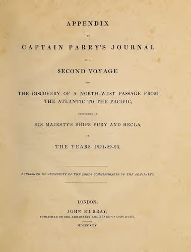 English - Appendix to Captain Parry's Journal of a Second Voyage