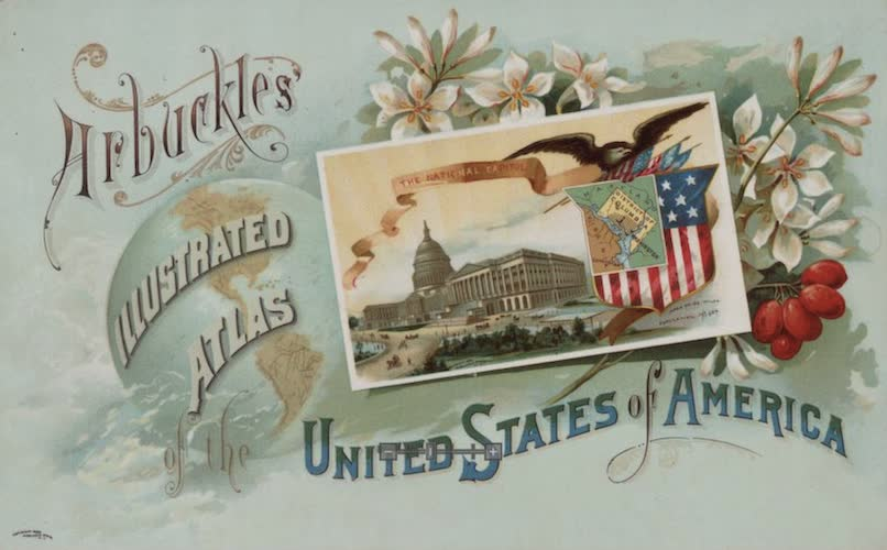 Aquatint & Lithography - Arbuckles' Illustrated Atlas of the United States of America