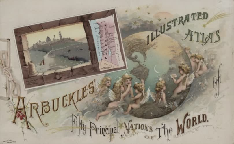 Aquatint & Lithography - Arbuckles' Illustrated Atlas of the World