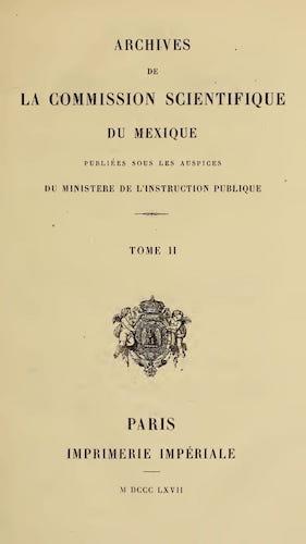 French - Archives de la Commission Scientifique du Mexique Vol. 2
