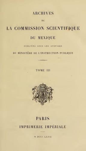 French - Archives de la Commission Scientifique du Mexique Vol. 3