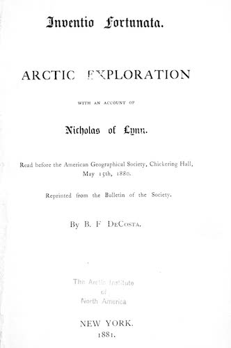 English - Arctic Exploration with an Account of Nicholas of Lynn