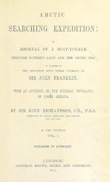 Arctic Searching Expedition Vol. 1 - Title Page (1851)