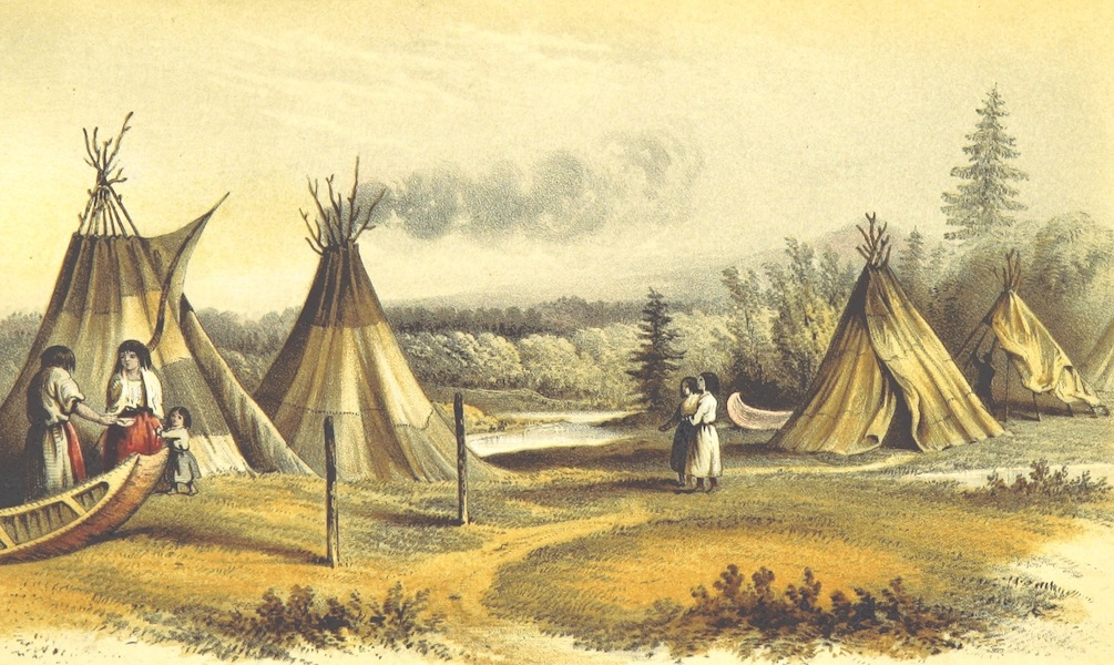 Arctic Searching Expedition Vol. 2 - Cree Wigwams in Summer (1851)