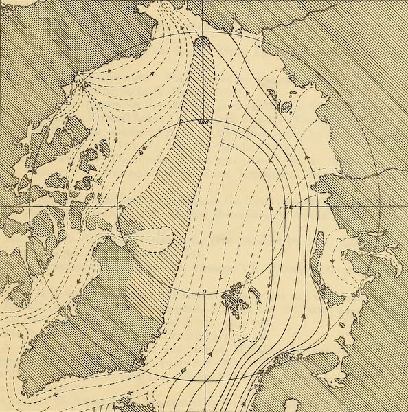 Arctic Tides - Arctic Currents and Land According to A. Peterman (1865) (1911)