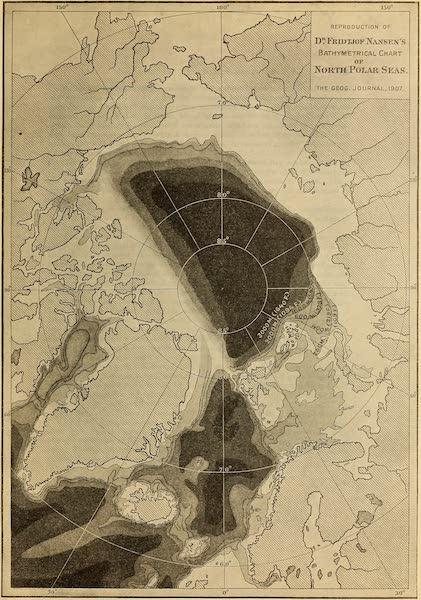 Arctic Tides - Reproduction of Dr. Fridtjof Nansen's Bathymetrical Chart of North Polar Seas (1907) (1911)