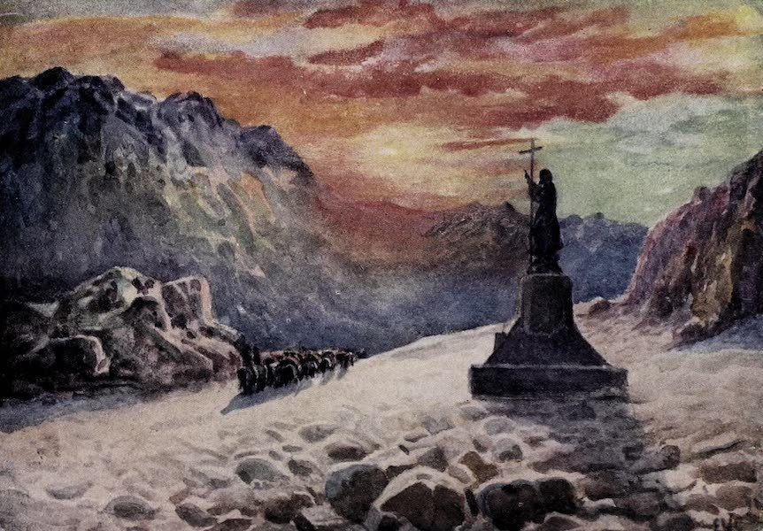 Argentina, Past and Present - The Statue of Christ on the Argentine-chilean Frontier : Sunrise (1914)