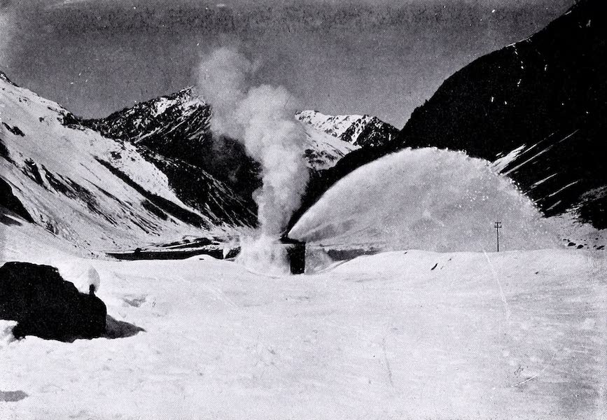 Argentina, Past and Present - Snow Plough at Work in the Cordilleras (1914)