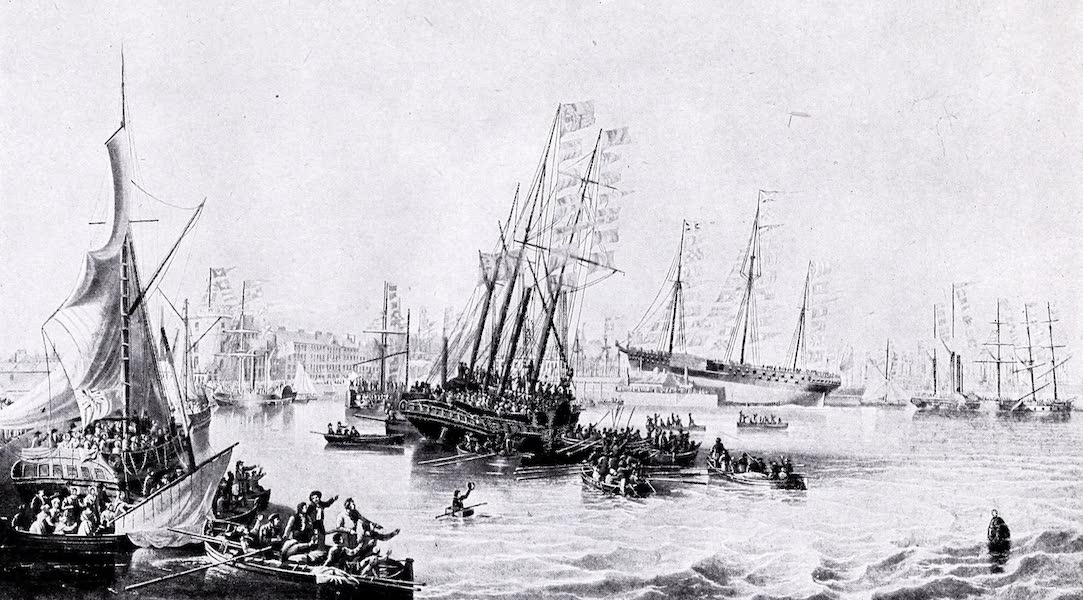 Argentina, Past and Present - The Progress of Shipping : Launch of the Forth, 1841 (1914)