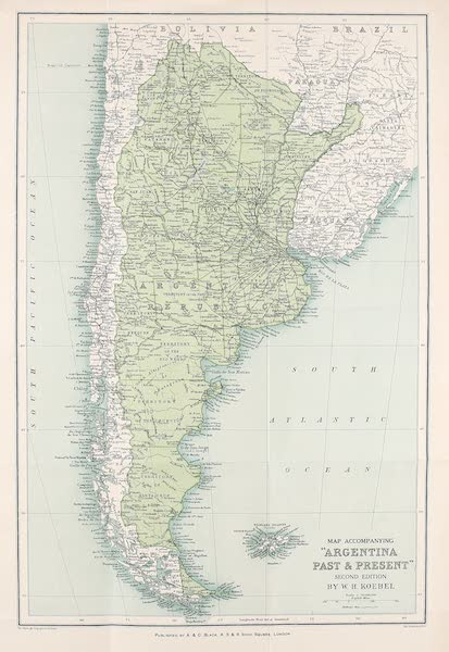 Argentina, Past and Present - Map of Argentina (1914)