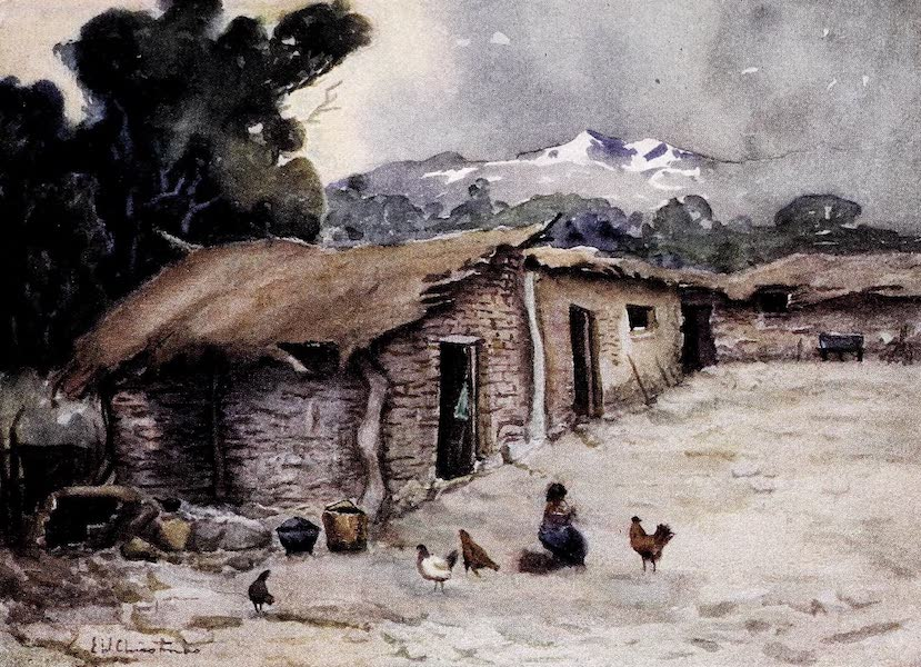 Argentina, Past and Present - A Paisano's Hut on the Chilean Frontier (1914)