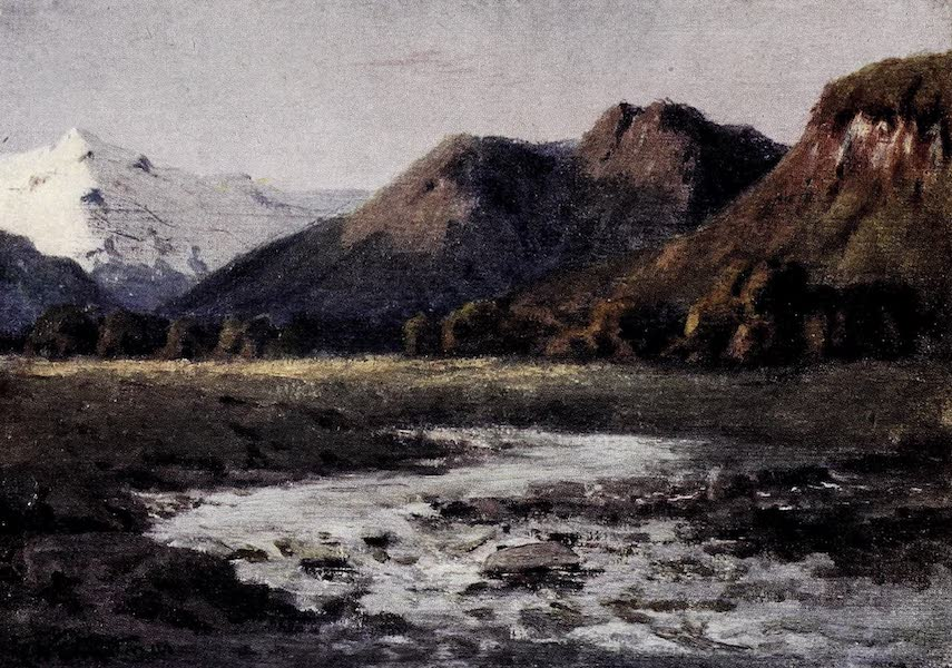 Argentina, Past and Present - The Flats Lying Between the Plateau Heights, Southern Andes (1914)