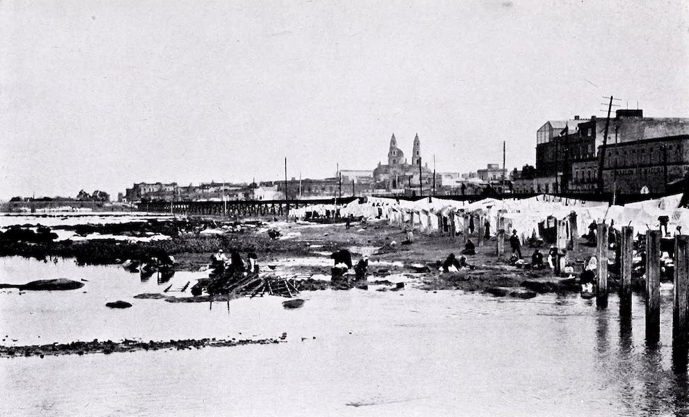 Argentina, Past and Present - Buenos Aires : Aspect of River Front Previous to the Construction of Docks (1914)