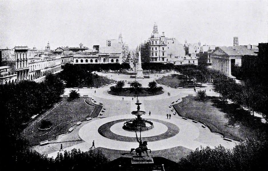 Argentina, Past and Present - Buenos Aires : Plaza De Mayo (1914)