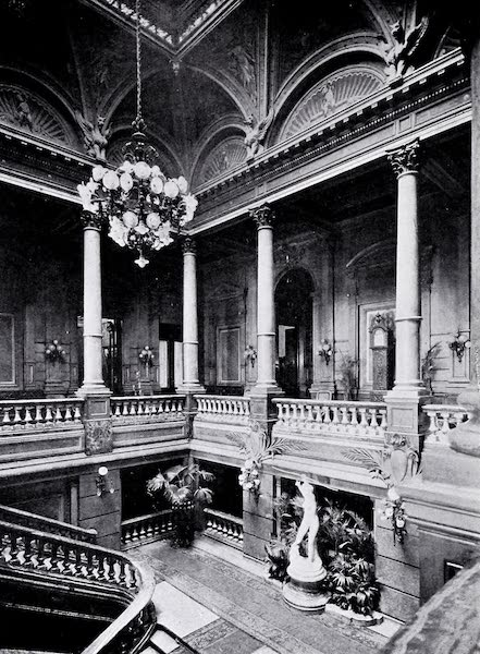 Argentina, Past and Present - The Jockey Club : Entrance Hall (1914)