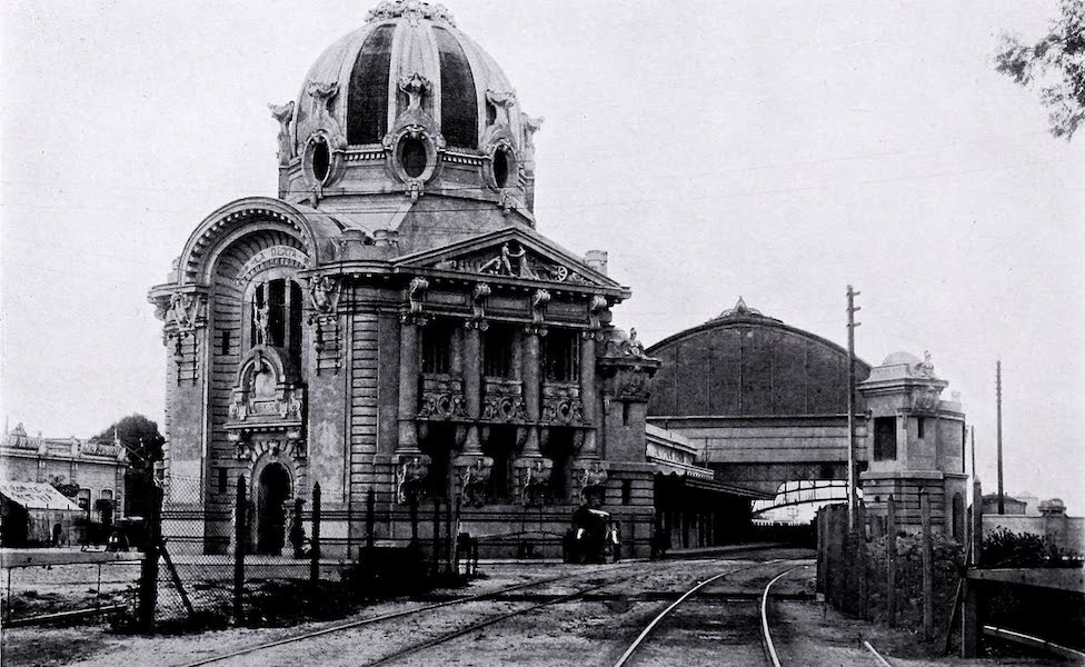 Argentina, Past and Present - La Plata : The New Railway Station in the Cordoba Hills (1914)