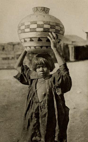 Arizona, The Wonderland - An Apache Maiden Water-Carrier at Palomas, Arizona (1917)