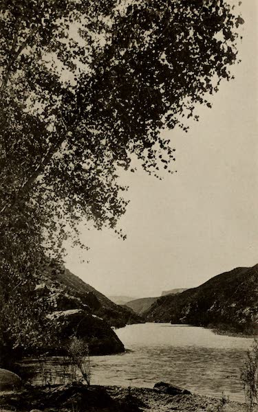 Arizona, The Wonderland - Looking Up Salt River Canyon towards the Roosevelt Dam (1917)