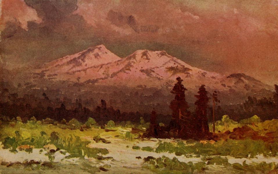 Arizona, The Wonderland - San Francisco Peaks at Sunset, from near Flagstaff, Arizona (1917)
