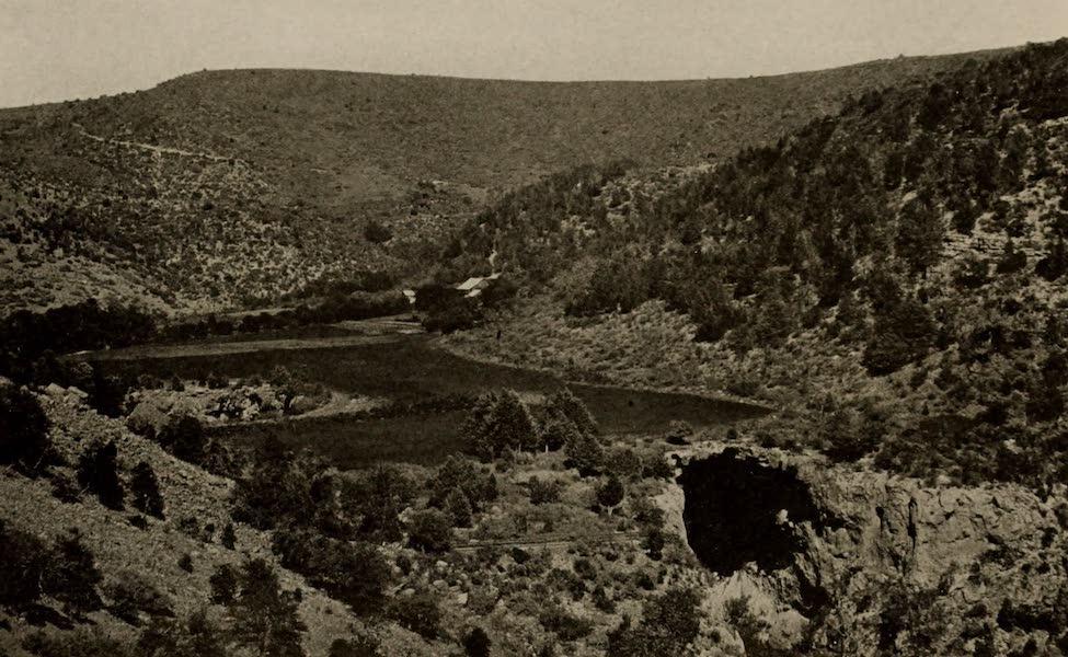 Arizona, The Wonderland - Bird's-Eye View of Natural Bridge, Verde Valley, Arizona (1917)