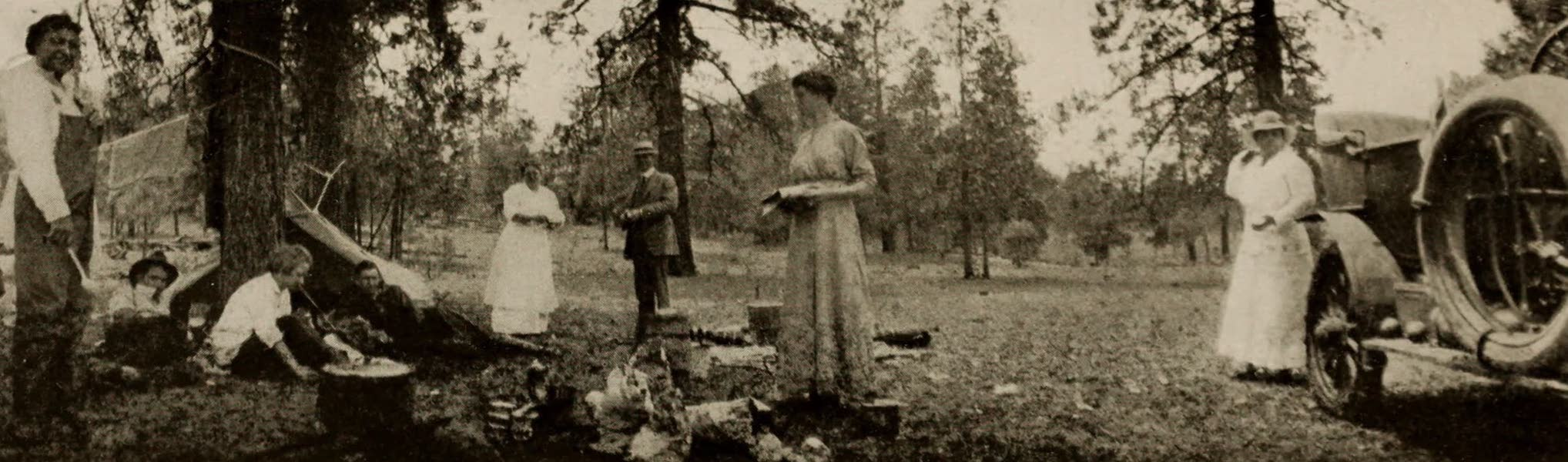 Arizona, The Wonderland - Camping Under the Pines at Coleman Lake, near Williams, Arizona (1917)