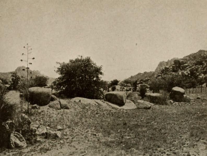 Arizona, The Wonderland - The Three Treaty Rocks at West Entrance to Cochise's Stronghold, Arizona (1917)