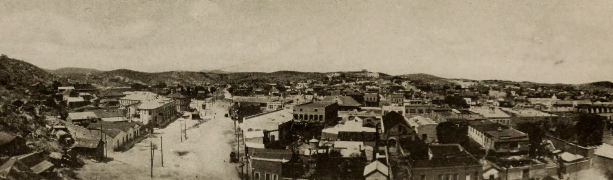 Arizona, The Wonderland - Nogales, Showing the Street that Divides the American from the Mexican Portion of the City (1917)