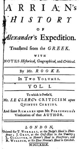 English - Arrian's History of Alexander's Expedition Vol. 1