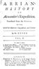 Arrian's History of Alexander's Expedition Vol. 2