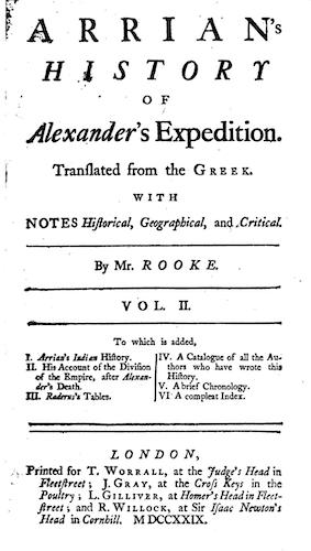 English - Arrian's History of Alexander's Expedition Vol. 2