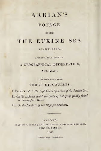 Ancient History - Arrian's Voyage Round the Euxine Sea