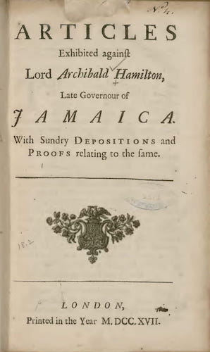 English - Articles Exhibited Against Lord Archibald Hamilton