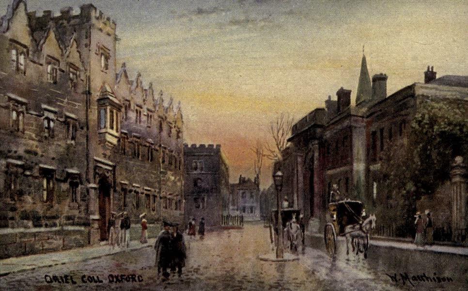 Artistic Colored Views of Oxford - Oriel College, Oxford (1900)